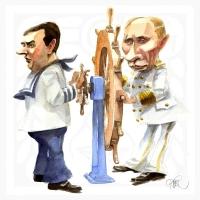 Putin-Medvedev steeringwheel