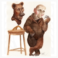 Putin bear-dress