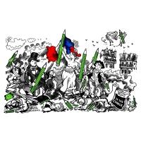 Plantu (FR) - 2015-01-10-Liberte-Delacroix-Le Monde