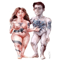 Rainer Ehrt-Adam and Eve-tattoo