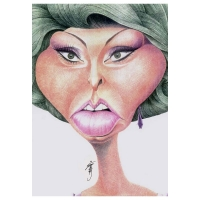 Stabor-Caricature-Sophie Loren