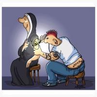 Nani Mosquera-God tattoo