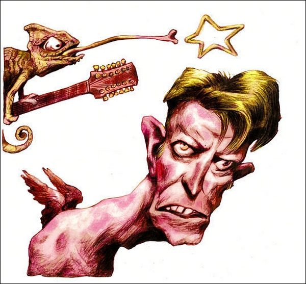 Cau Gomez BR-Honorable mention caricatura-David Bowie