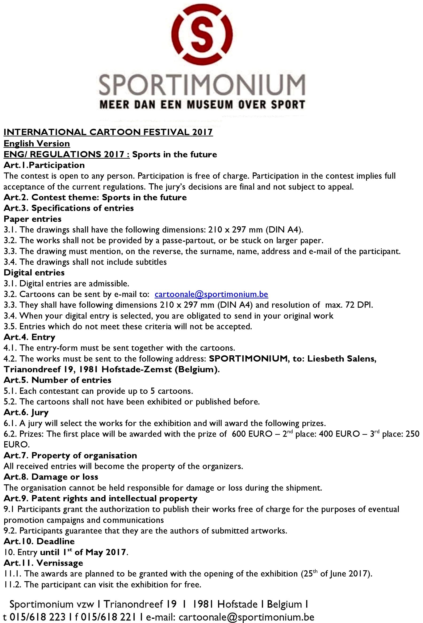 sportimonium rules