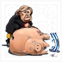 Merkelovej prasiatko