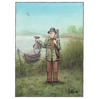 Pol Leurs - Poľovník a ryba