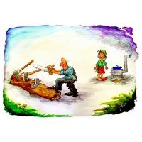 Jordan Pop-Iliev: Muž píliaci drevo