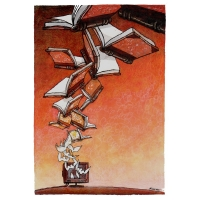 robert-rousso-flying-books-poster