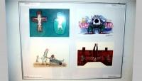 Vernisáž výstavy - výstavené karikatúry