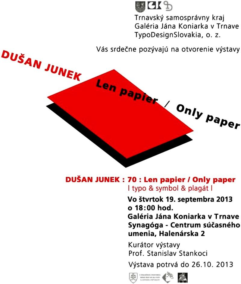 Dušan Junek-Len papier