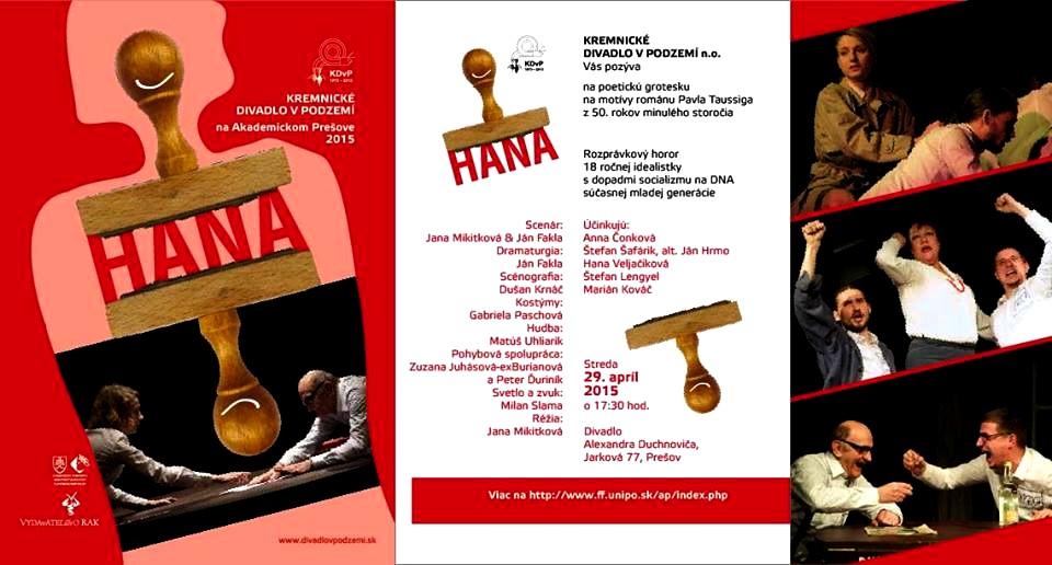Pavel Taussig: Hana-predstavenie Prešov