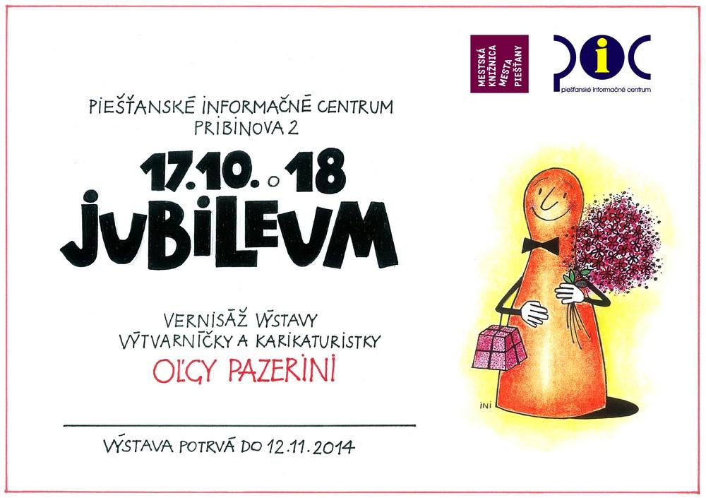 Oľga Pazerini-Jubileum