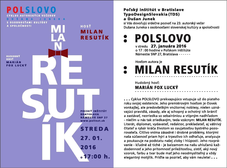Polslovo-Milan Resutík