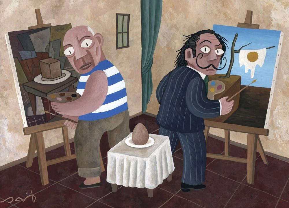 David Vela - Picasso Dali and an egg