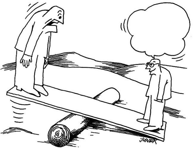 junek - karikatura